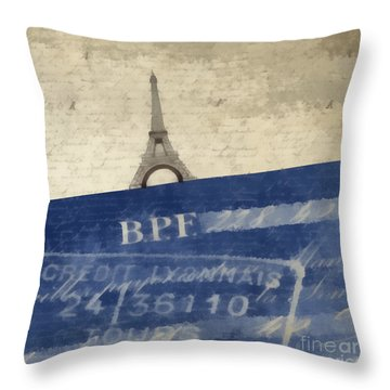 Trip To Paris Square Pillow Size Photograph by Edward Fielding