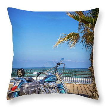 Throw Pillow featuring the photograph Trip To The Sea. by Gary Gillette