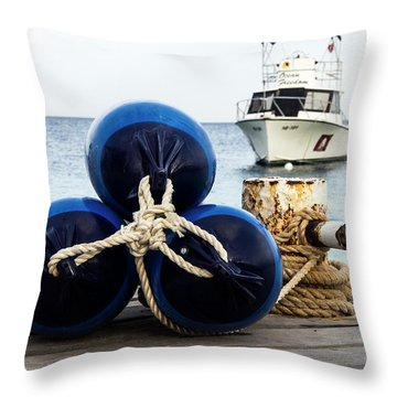 Throw Pillow featuring the photograph Triple Bumpers by Jean Noren
