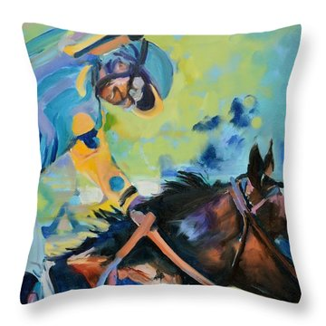 Triple Crown Champion American Pharoah Throw Pillow