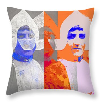 Throw Pillow featuring the digital art Triple Dutch by Nop Briex