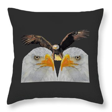 Triple Eagle Throw Pillow by Bill Richards