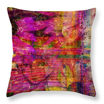Triple Exposure Throw Pillow by Diana Boyd