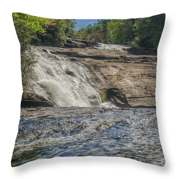 Throw Pillow featuring the photograph Triple Falls Second Tier by Steven Richardson