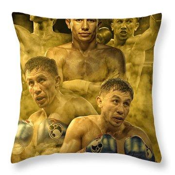 Triple G Throw Pillow
