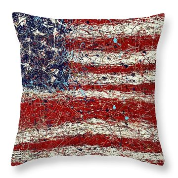 Triple Glory  Throw Pillow