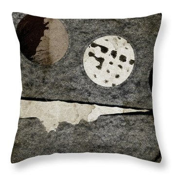 Triple Lunacy Abstract 1 Throw Pillow