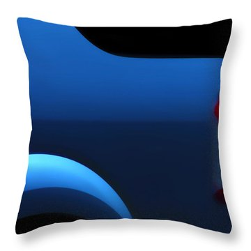 Triple Parked Throw Pillow