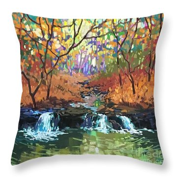 Triple Rhythm Throw Pillow