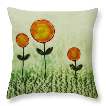 Triplets Throw Pillow by Terry Honstead