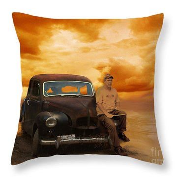 Trippin' With My '48 Austin A40 Throw Pillow