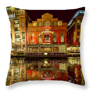 Tripping The Lights - Pano Throw Pillow