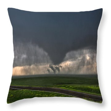 Tripple Vorticies Throw Pillow
