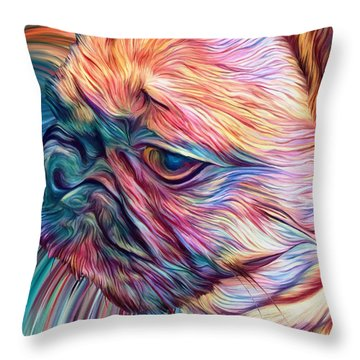 Trippy Arabella Throw Pillow