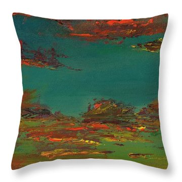 Triptych 3 Throw Pillow by Frances Marino