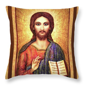 Triptych Icons Throw Pillow