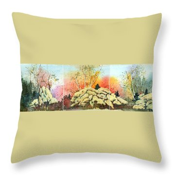 Triptych Throw Pillow