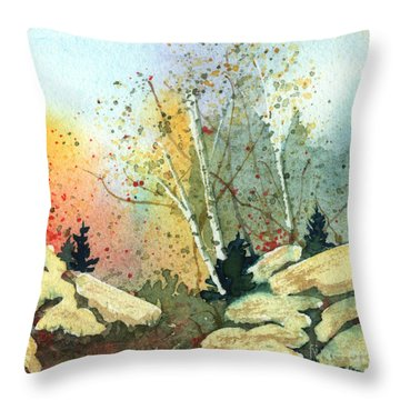 Triptych Panel 3 Throw Pillow