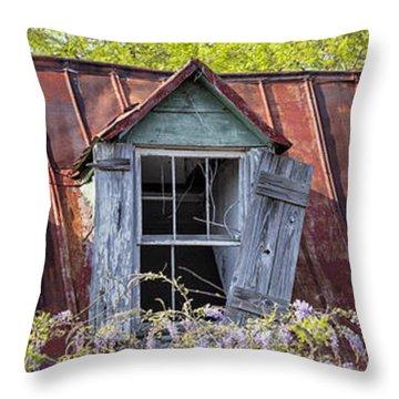 Triptych Windows Throw Pillow
