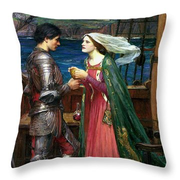 Tristan And Isolde With The Potion Throw Pillow