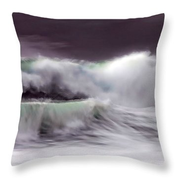 Tritan's Dance Throw Pillow by Donna Blackhall