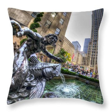 Throw Pillow featuring the photograph Triton by Rafael Quirindongo