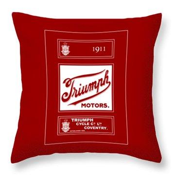Triumph 1911 Throw Pillow by Mark Rogan