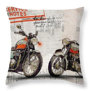 Triumph Bonneville T100 - T120 Throw Pillow