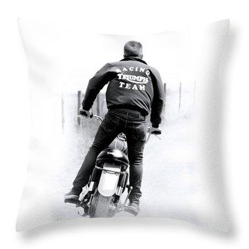 Triumph Racing Team 1967 Throw Pillow