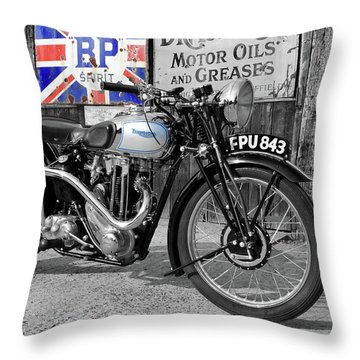 Triumph Tiger 80 Throw Pillow by Mark Rogan