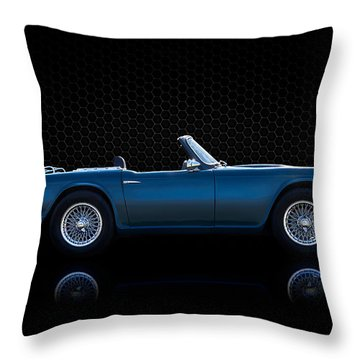 Triumph Tr4 Throw Pillow by Douglas Pittman