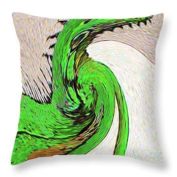 Throw Pillow featuring the digital art Triumphant Iguana by Merton Allen