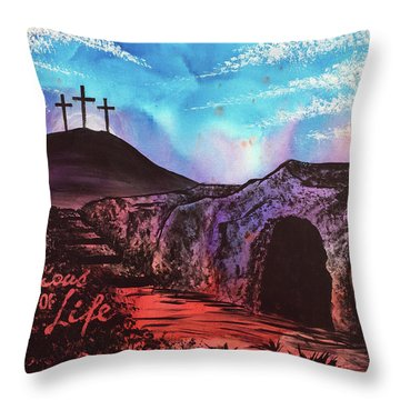 Throw Pillow featuring the painting Triumphant Life by Nathan Rhoads