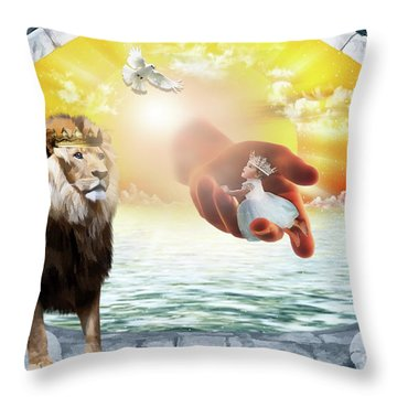 Triune Protection Throw Pillow by Dolores Develde