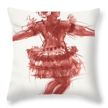 Trobriand Islands Dancer Throw Pillow