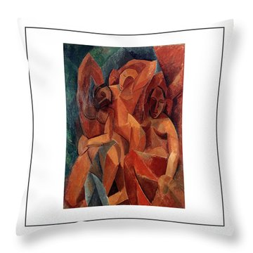 Trois Femmes Three Women  Throw Pillow