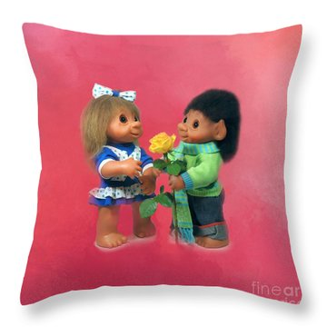 Troll Love Throw Pillow by Renee Trenholm