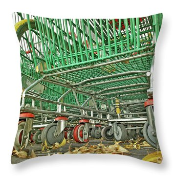 Trolley Convoy Throw Pillow