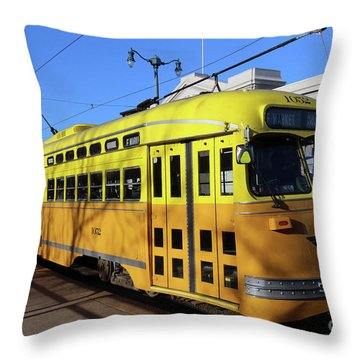 Trolley Number 1052 Throw Pillow by Steven Spak