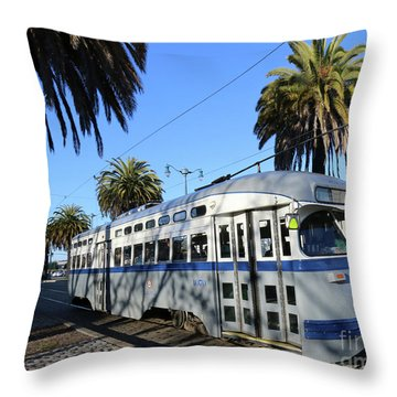Trolley Number 1070 Throw Pillow by Steven Spak
