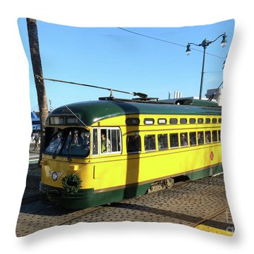 Trolley Number 1071 Throw Pillow by Steven Spak