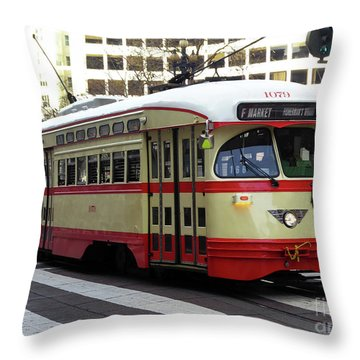 Trolley Number 1079 Throw Pillow