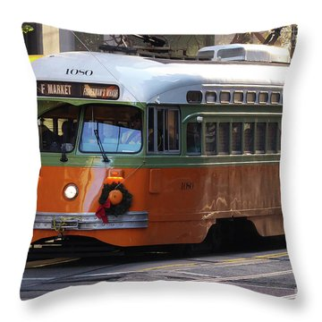 Trolley Number 1080 Throw Pillow