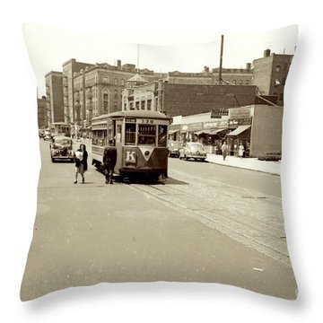 Trolley Time Throw Pillow