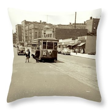 Throw Pillow featuring the photograph Trolley Time by Cole Thompson