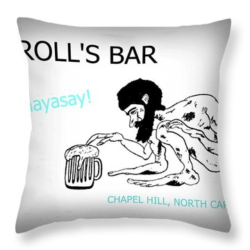 Troll's Bar Chapel Hill Nc Throw Pillow
