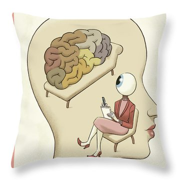 Trompe-l'oeil Throw Pillow