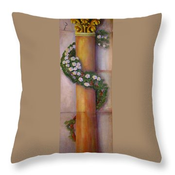 Trompe L'oeil  Column Throw Pillow