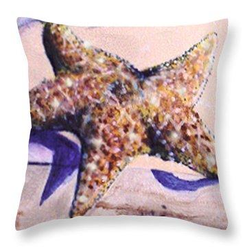Trompe L'oeil Star Fish Throw Pillow