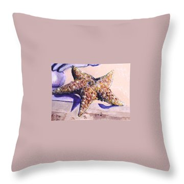 Trompe L'oeil Star Fish Throw Pillow